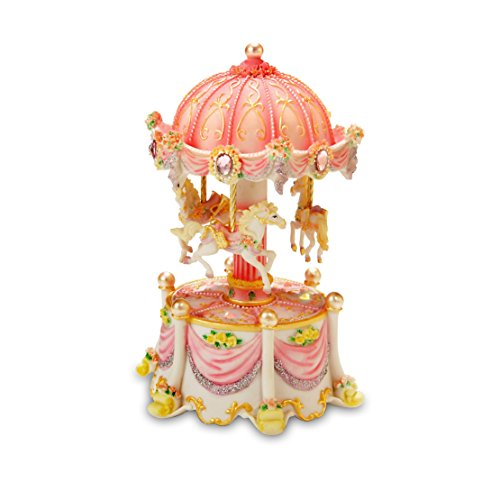 Carousel Dreams Mini 3-Horse Rotating Figurine The San Francisco Music Box Company - Mini Horse Music Box