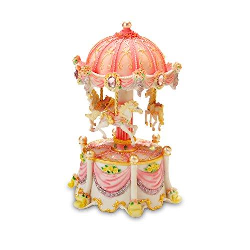 Music Box Company Carousel (Carousel Dreams Mini 3-Horse Rotating Figurine The San Francisco Music Box Company)