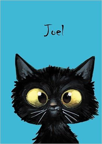 Über 2500 Namen bereits verf DIN A5 Durch Vornamen auf dem Cover 80 blanko Seiten mit kleiner Katze auf jeder rechten unteren Seite Coverfinish Joel: Personalisiertes Notizbuch eine ..