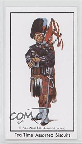 Pipe Major, Scots Guards (Trading Card) 1971 Tea Time Biscuits History of British Military Uniforms - [Base] (Biscuit Pipe)