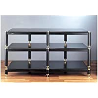 VTI BL Series TV Stand - Silver / Silver / Oak