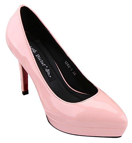 No.66 Town Women's Stiletto High Heel Dress Pumps Court Shoes Pink EEJoe