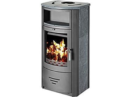 Estufa de leña chimenea quemador de leña estufa para madera, moderno con nicho 7 kW