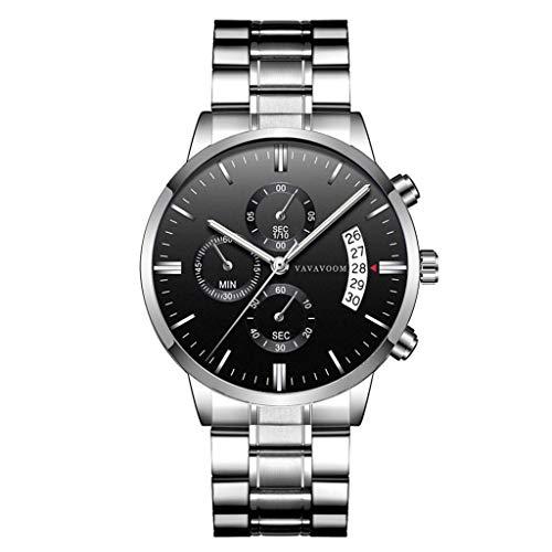 2019 Summer Deals ! Men Luxury Casual Watch Quartz Stainless Steel Waterproof Calendar Watch Wrist Watch for Men Under 10 (Best Mens Luxury Watches 2019)