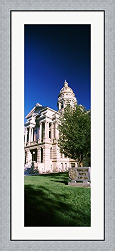 Wyoming State Capitol Building, Cheyenne, Wyoming, USA by Panoramic Images Framed Art Print Wall Picture, Flat Silver Frame, 20 x 44 inches