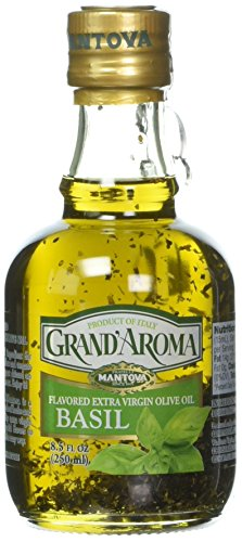 Mantova Grand' Aroma Basil flavored Extra Virgin Olive Oil, 8.5 Ounce