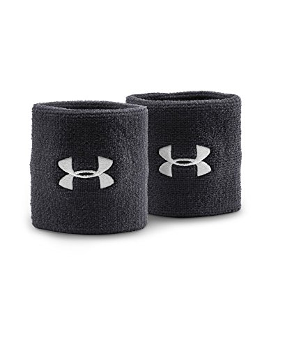 """Under Armour 3"""" Performance Wristband, Black , One Size"""