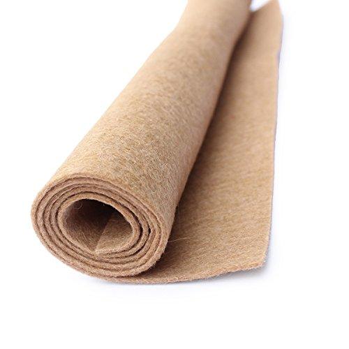 (Camel Tan - Wool Felt Oversized Sheet - 35% Wool Blend - 1 12x18 inch sheet)