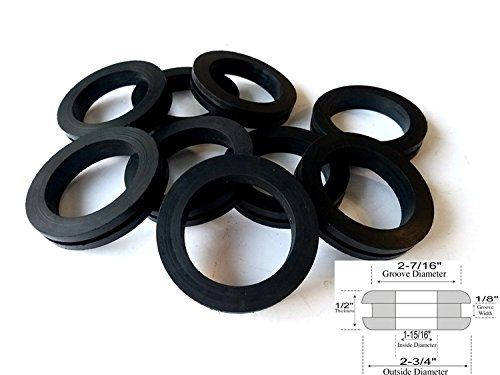 Lot of 9 Rubber Grommets 1-15/16 Inside Diameter - Fits: 1-1/2