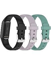 (3-pack) Chofit bandjes compatibel met Fitbit Luxe riem, klassieke vervanging zachte siliconen sportpolsband kleurrijke armband voor luxe activiteitstracker