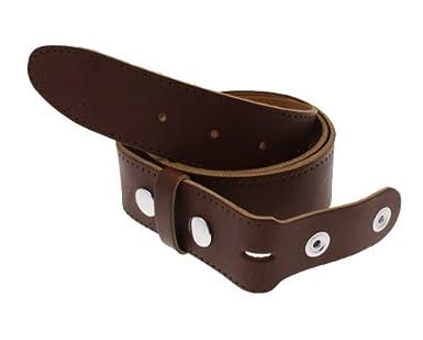 Leather Snap Fit Belt for Detachable Buckles