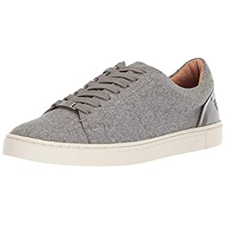 Frye Women's Ivy Low Lace Sneaker, Grey Wool, 6 M US