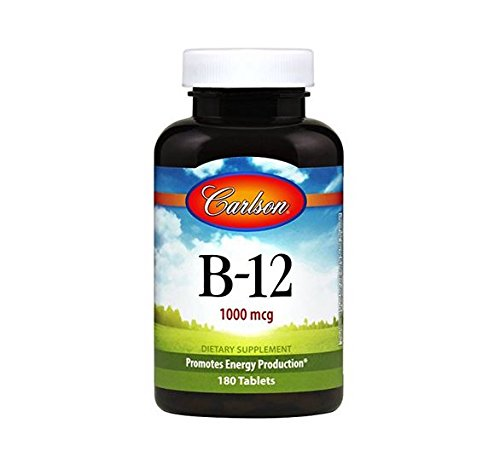 Carlson Vitamin B-12 (Carlson Labs B-12 1000mcg Tablets, 180 Count)