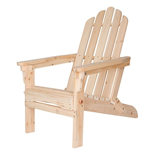 Shine Company Marina Adirondack Folding Chair, Natural by Shine Company Inc.