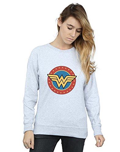 Wonder Entrenamiento Comics Dc Circle Mujer De Logo Cuero Camisa Gris Woman OOUwq