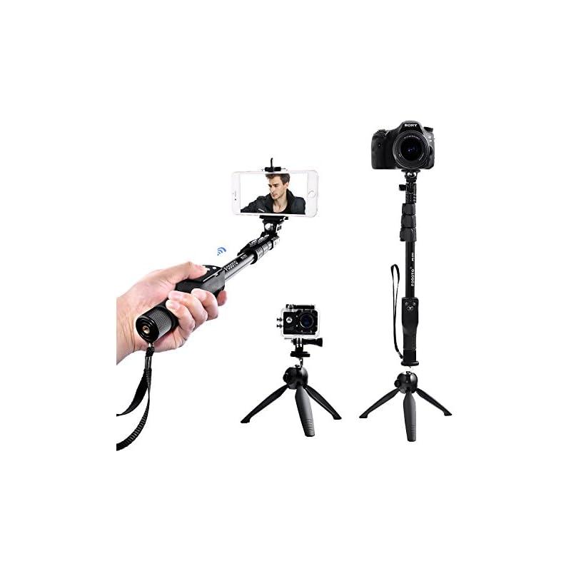 FOSOTO Selfie Stick Tripod with Bluetoot