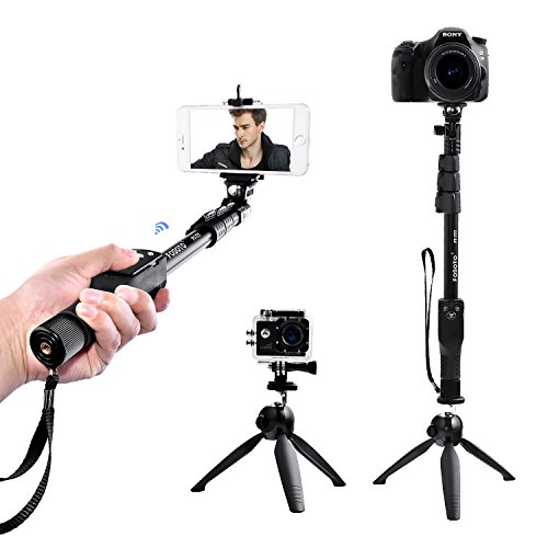 FOSOTO Selfie Stick Tripod with Bluetooth Remote for iphone X 8 7 6 Plus, Samsung Galaxy, Android, GoPro, Camera by FOSOTO