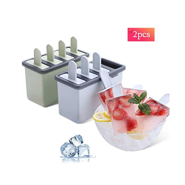 Rolin Roly Set di 2 Stampi per Gelato Durevole Stampi per ghiaccioli Riutilizzabile Gelati Crema Stampo Design a Doppio… 1 spesavip