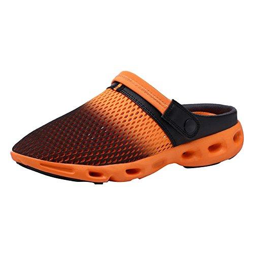 Verde Orange Mulas Verano Azul WuXi Zapatos Strand De Playa Naranja 35 40 Walking Zapatos Clogs Zapatillas Unisex Outdoor Rosa Zuecos Jardín Mesh Sandalias x6fHw6q