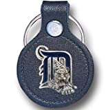 Detroit Tigers MLB Round Leather Key Chain