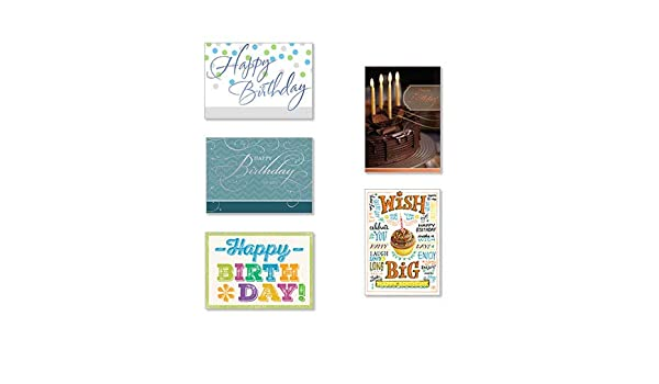 Amazon Hallmark Business Birthday Cards 25 Pack Assorted For Employees Or Customers Of Greeting Office