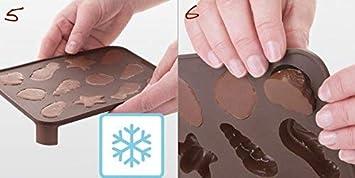 Tescoma 629371 Delicia Choco Stampo Praline 2 Pennelli Marrone Silicone 15.8 x 3.4 x 19 cm
