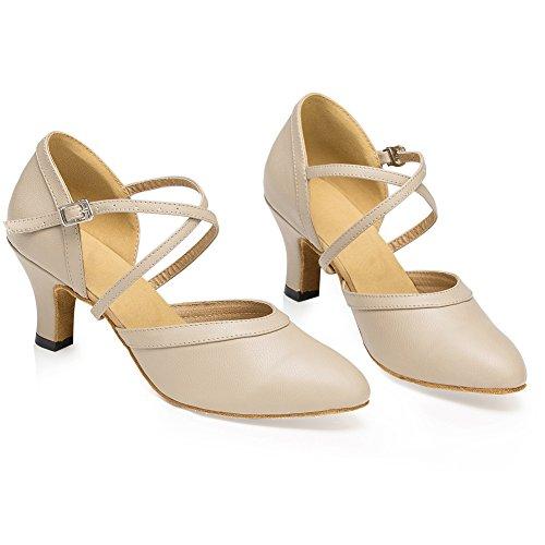 14b19cebc95 new Misu Women s Closed toe Suede Sole Latin Salsa Tango Practice Ballroom  Dance Shoes with 2.7