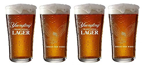 Yuengling Beer Eagle Glasses, Set of Four