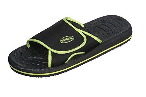 Roxoni Mens Comfortable Non Slip Flip Flop Shower Shoe Adjustable Beach Slide Sandal Slipper
