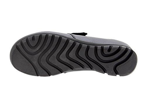 Calzado mujer confort de piel Piesanto 9526 zapato velcro casual cómodo ancho Negro