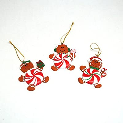 Peppermint Gingerbread Man Ornaments: package of 12