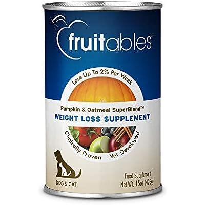 Fruitables Pumpkin Dog Weight Loss Supplement, 15-Ounce Can,Pack Of 12