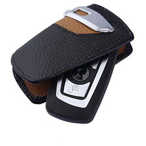 SZMWL Sport Line Key Case FOB Holder Fits BMW 2 3 5Series X3(Brown)