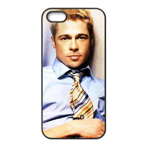 Brad Pitt 002 coque iPhone 4 4S cellulaire cas coque de téléphone cas téléphone cellulaire noir couvercle EEEXLKNBC23733