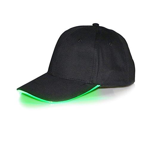 Stebcece LED Light Up Adjustable Baseball Cap For Unisex (Black and (Light Up Baseball Caps)