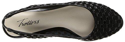 patent Suede Zapatillas Color Para Black Trotters Mujer Negro Lucy y4q78P