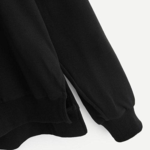 Femmes Pure Pour Par Black En Jersey Longues Chandail Manches Venmo À Capuchon Pw7nqAX