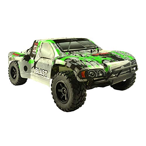 WYY 4WD High Speed Buggy Fuel Toy Car,1/10 Nitro RC Off-Road Car with 2.4Ghz Remote Control, GO.18 Nitro Engine,C