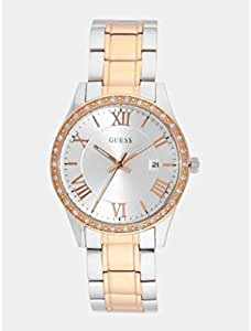 Guess Silver Dial Date Women's Watch-W0985L3