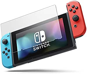 Nintendo Switch glass film [Blue Light cut protective film Nintendo switch film strengthening protection glass Made in Japan Material Asahi Glass specification model] hardness 9H glass shatterproof anti-fingerprint bubbles zero [Manufacturer Genuine 60 days exchange correspondence] (Excitech)