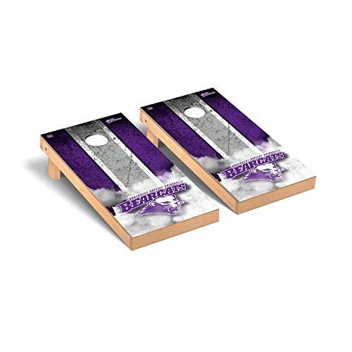 - Victory Tailgate Regulation Collegiate NCAA Vintage Series Cornhole Board Set - 2 Boards, 8 Bags - Southwest Baptist University SBU Bearcats