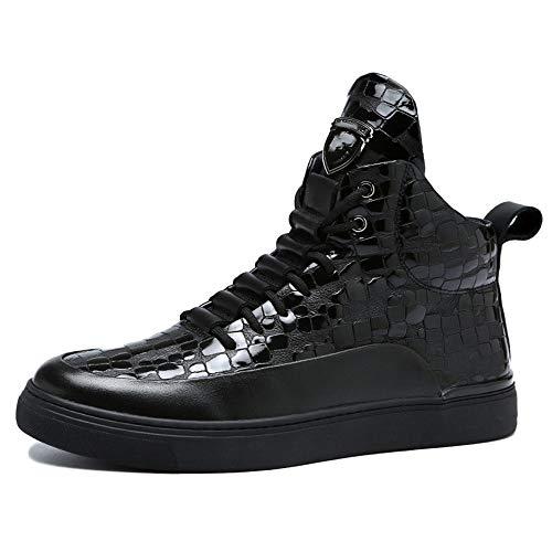 Black Stivali Classici 43 in Boots per Stivaletti Sportivi di Adulti Livello Stivali Marten Uomo Autunno Classici Moda Pelle Alto Doc BYxqUg8W