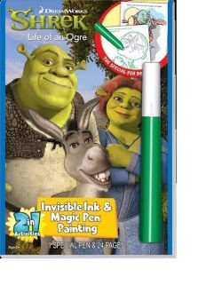 Shrek Life Of An Ogre Invisible Ink And Magic Pen Painting (Toys Shrek)