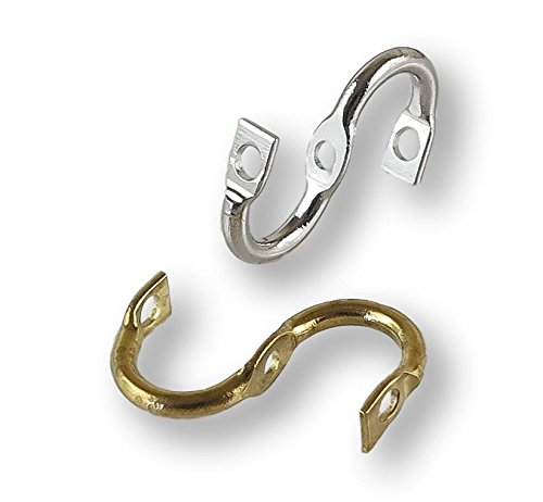 Double Blade Spinner Clevis 25 Pack (Brass) (Spinner In Line Blades)
