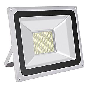Himanjie® LED Projecteur Extérieur 100W LED Spot, Eclairage de Sécurité, 7000 Lumen, Étanche IP65, Lumiere d'inondation Blanc Froid(6000K-6500K)pour Jardin, Cour, Terrasse, Square
