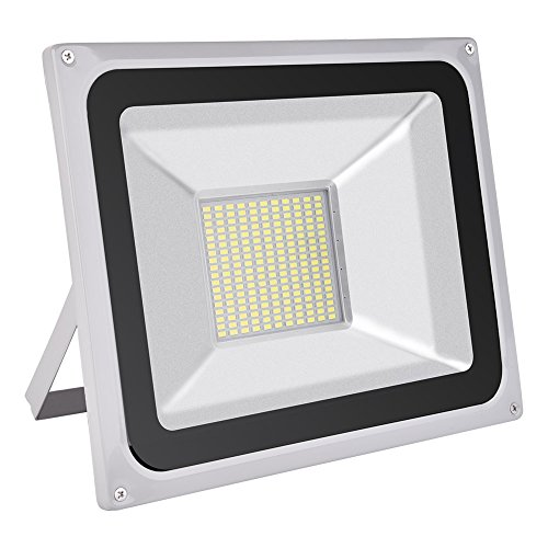 CSHITO 100W LED Flood Light Outdoor, Waterproof IP65, 8000LM Daylight White (6000K), Wall Washer Light, Super Bright Security Lights for Garden, Yard, Stadium, Factory, Warehouse, Square, Billboard