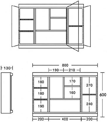 LYXDZW Espejo de baño Pared Armario Baño,Armario Espejos for Baño,Armario Dos Puertas Correderas, Acabado En Blanco Brillo 60 * 70 (Size : 60 * 55 Double Doors): Amazon.es: Hogar