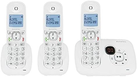 Alcatel XL385 Voice Trio - Teléfono (Teléfono DECT, Terminal inalámbrico, Altavoz, 50 entradas, Identificador de Llamadas, Blanco): Amazon.es: Electrónica