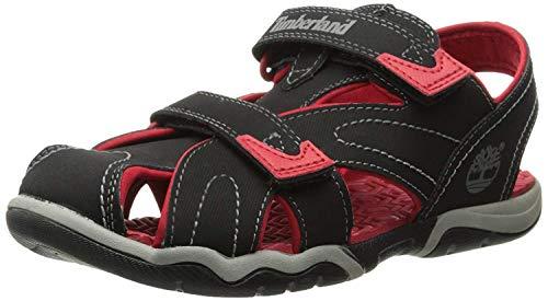 Timberland Adventure Seeker Closed Toe Dress Sandal (Big Kid),Black/Red,7 M US Big Kid