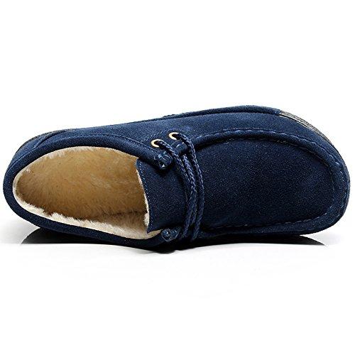 Sneaker Donna Pelliccia Marina pelliccia Con Scarpe Tacco Inverno Piattaforma Cuneo Shenn Caldo Scamosciato vUxwB1wq